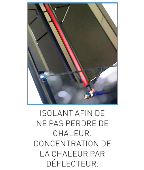 Isolant rampe chauffante Sofraca
